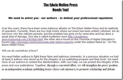 mellen-press-needs-you